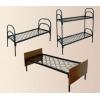 Железные армейские кровати,  одноярусные металлические для больниц,  бытовок,  общежитий,  интернатов,  школ.  От производителя. Опт